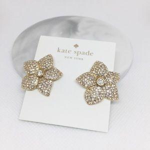 NWT Kate Spade Floral Crystal Earrings